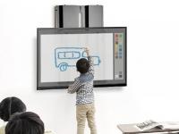Výškově nastavitelný držák dotykové televize na zeď